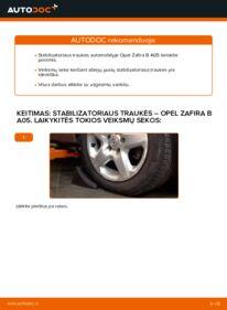 Kaip atlikti keitimą: 1.9 CDTI (M75) Opel Zafira B Pasukimo trauklė