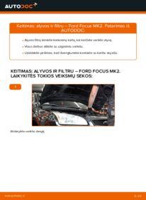 Kaip atlikti keitimą: 1.6 TDCi Ford Focus mk2 Sedanas Alyvos filtras
