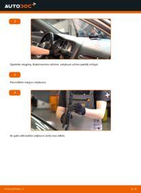 Kaip atlikti keitimą: 3.0 TDI quattro Audi A6 4f2 Valytuvo gumelė