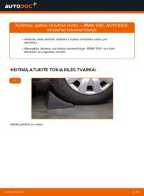 Kaip atlikti keitimą: 320d 2.0 BMW E90 Vikšro Valdymo Svirtis