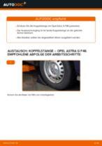 Wie Lenkgetriebe Manschette beim OPEL MERIVA wechseln - Handbuch online