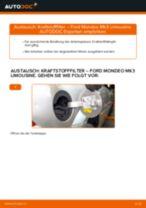 Wie Ford Mondeo Mk3 Limousine Kraftstofffilter wechseln - Anleitung