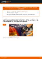PDF handleiding voor vervanging: Brandstoffilter OPEL Astra G CC (T98) diesel en benzine