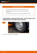 OPEL Stabilisatorkoppelstang achter en vóór veranderen doe het zelf - online handleiding pdf