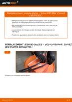PDF manuel de remplacement: Balais d'essuie-glace VOLVO V50 (545) arrière et avant