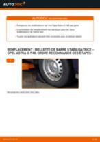 Remplacement Entretoise tige stabilisateur OPEL ASTRA : pdf gratuit