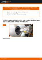 Udskift brændstoffilter - Ford Mondeo Mk3 sedan | Brugeranvisning