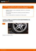 Cómo cambiar: bieletas de suspensión de la parte trasera - Mercedes W210   Guía de sustitución