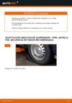 Cambio Tirante barra estabilizadora delantera y trasera OPEL bricolaje - manual pdf en línea