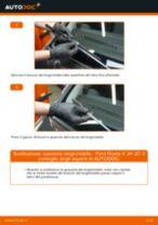 Come cambiare spazzole tergicristallo della parte anteriore su Ford Fiesta V JH JD - Guida alla sostituzione