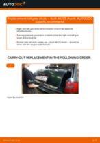 PDF replacement tutorial: Boot struts AUDI A6 Avant (4B5, C5)