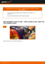 Step by step PDF-tutorial on Brake Calipers Opel Crossland X P17 replacement