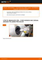 Byta bränslefilter på Ford Mondeo Mk3 sedan – utbytesguide