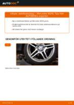 Hur byter man och justera Krängningshämmarstag MERCEDES-BENZ E-CLASS: pdf instruktioner