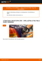 Montering Støtdempere OPEL ASTRA G Hatchback (F48_, F08_) - steg-for-steg manualer