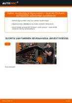 Kuinka vaihtaa moottoriöljy ja öljynsuodatin Audi A6 C5 Avant-autoon – vaihto-ohje