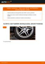 Kuinka vaihtaa koiranluu taakse Mercedes W210-autoon – vaihto-ohje