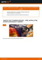 Kuinka vaihtaa polttoainesuodatin Opel Astra G F48-autoon – vaihto-ohje