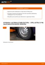 Jak wymienić i wyregulować Drążek wspornik stabilizator OPEL ASTRA: poradnik pdf