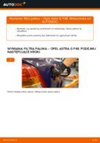 Jak wymienić filtr paliwa w Opel Astra G F48 - poradnik naprawy