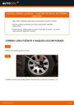 Naučte sa, ako vyriešiť problémy s predné Tlmič pruzenia AUDI