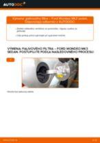 Výmena nafta Palivový filter FORD MONDEO: online návod