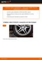 Ako vymeniť zadné tyčky stabilizátora na Mercedes W210 – návod na výmenu