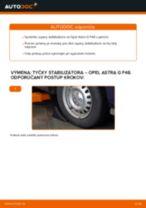 Montáž Vzpera stabilizátora OPEL ASTRA G Hatchback (F48_, F08_) - krok za krokom príručky