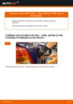 Ako vymeniť palivový filter na Opel Astra G F48 – návod na výmenu