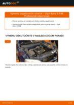 Ako vymeniť zapaľovacie sviečky na Opel Astra G F48 – návod na výmenu