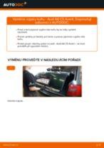 Jak vyměnit vzpery kufru na Audi A6 C5 Avant – návod k výměně