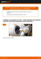 Jak vyměnit palivový filtr na Ford Mondeo Mk3 sedan – návod k výměně