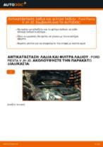 Πώς να αλλάξετε λαδια και φιλτρα λαδιου σε Ford Fiesta V JH JD - Οδηγίες αντικατάστασης