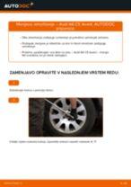 Kako zamenjati avtodel amortizer zadaj na avtu Audi A6 C5 Avant – vodnik menjave