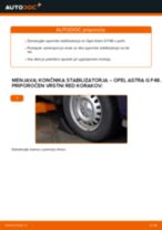 Kako zamenjati avtodel končnik stabilizatorja spredaj na avtu Opel Astra G F48 – vodnik menjave