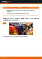 Kako zamenjati avtodel filter goriva na avtu Opel Astra G F48 – vodnik menjave