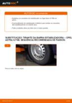 Como mudar tirante da barra estabilizadora da parte dianteira em Opel Astra G F48 - guia de substituição
