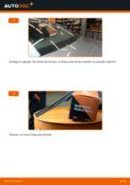 Como mudar escovas do limpa vidros da parte dianteira em Audi A4 B8 - guia de substituição