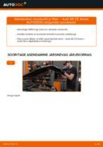 Kuidas vahetada Audi A6 C5 Avant mootoriõli ja filtrit – õpetus