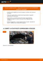 Cseréljünk Axiális Csukló Vezetőkar AUDI A6: felhasználói kézikönyv