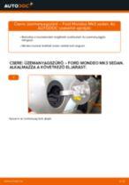 Üzemanyagszűrő-csere Ford Mondeo Mk3 sedan gépkocsin – Útmutató