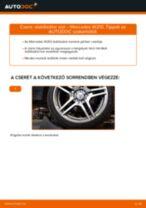Hátsó stabilizátor rúd-csere Mercedes W210 gépkocsin – Útmutató