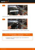 Hogyan cseréje és állítsuk be Kézifék kötél TOYOTA PRIUS: pdf útmutató