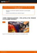 OPEL ASTRA G Hatchback (F48_, F08_) Kézifékkötél beszerelése - lépésről-lépésre útmutató