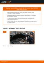 Kā nomainīt: salona gaisa filtru Audi A6 C5 Avant - nomaiņas ceļvedis