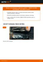 Kā nomainīt: priekšas amortizatoru atbalsta gultņi BMW X3 E83 - nomaiņas ceļvedis