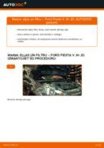 Kā nomainīt un noregulēt Eļļas filtrs FORD FIESTA: pdf ceļvedis