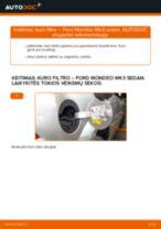Kaip pakeisti Ford Mondeo Mk3 sedan kuro filtro - keitimo instrukcija