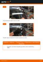 Montavimo Įsiurbimo vamzdis, oro filtras TOYOTA PRIUS Hatchback (NHW20_) - žingsnis po žingsnio instrukcijos