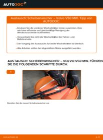 Wie der Wechsel durchführt wird: Scheibenwischer 2.0 D Volvo V50 Kombi tauschen